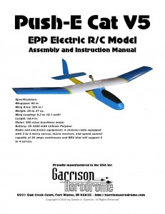 Cover for the Push-E Cat V5 instructions