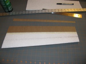 Trim excess kp lam for finished trailing edge